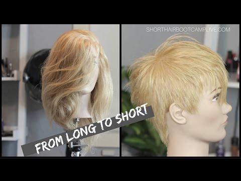 Short hair Cut -from long to short