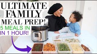 BULK COOKING 5 MEALS IN 1 HOUR   ULTIMATE WEEKLY MEAL PREP!