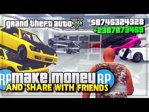 GTA 5 Online Make Money & Share With Friends! @Rockstargames DLC Wish (GTA 5 Gameplay)
