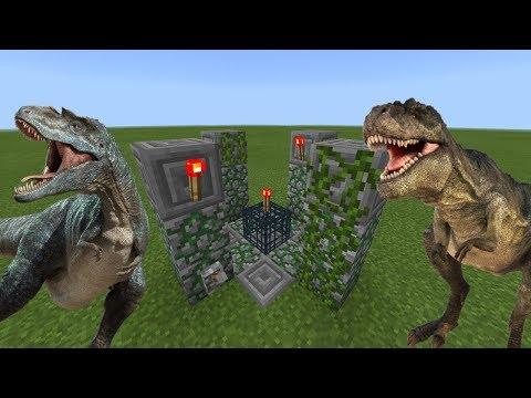 How To Make a DINOSAUR Spawner in Minecraft PE