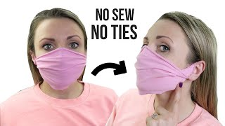 DIY Face Mask NO SEW NO TIES from Old Clothes EASY VIdeo Tutorial