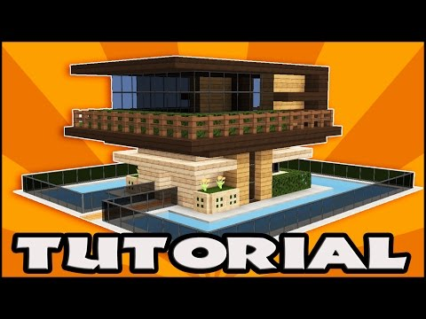 Minecraft: How to Build a Wooden House Tutorial | Easy Modern House Tutorial | Easy & Compact (1.11)