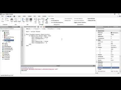 ROBLOX Scripting | Make an admin door | Only certain players can go through the door | Admin Door