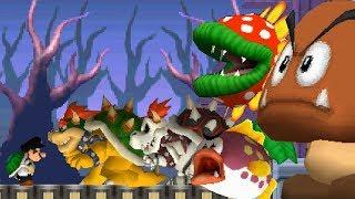 New Super Mario Bros  2 Co-Op Walkthrough - World 2 (All