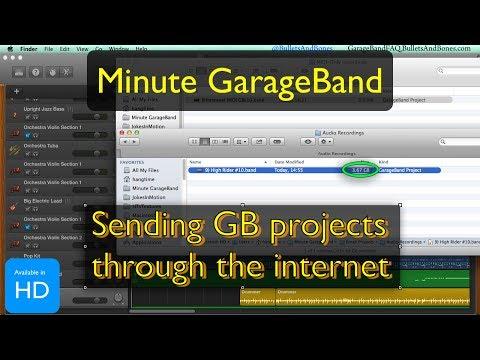 Send Project via Internet - Minute GarageBand