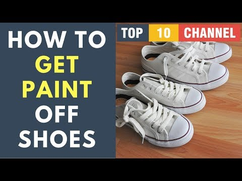 How To Get Paint Out Of White Shoes | How To Get Paint Off shoes | White Shoe Paint