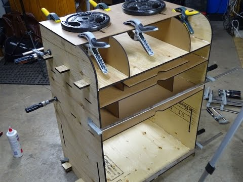 Custom Furniture: CNC Laser Station, Design through Build