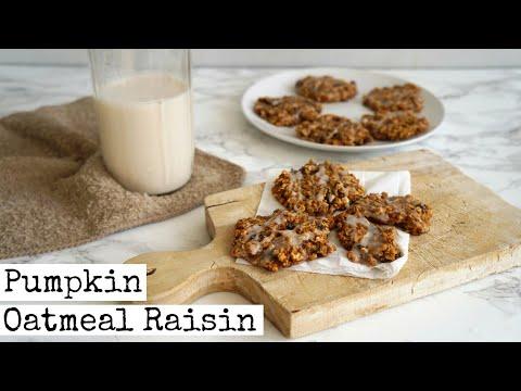 Pumpkin Oatmeal Rasin Cookies | Vegan