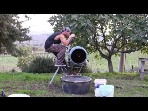 Homemade ecologic cement mixer to make seed balls - Natural Farming