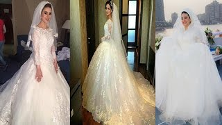 أروع فساتين الزفاف للمحجبات 2017