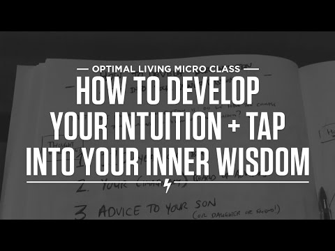 How to develop your intuition + tap into your inner wisdom