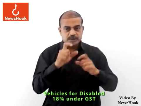 Buying vehicles under GST becomes hard for disabled-Indian Sign Language News by NewzHook.com