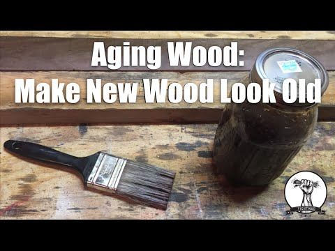 EASY way to Age Wood - Make New Wood Look Old