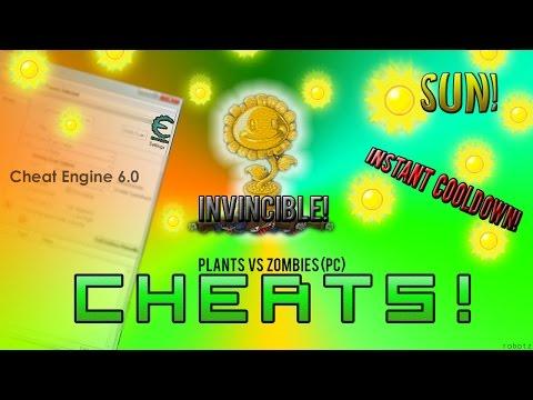 UNLIMITED SUN, INSTANT cooldown, Plants INVINCIBLE - Plants Vs Zombies Cheats