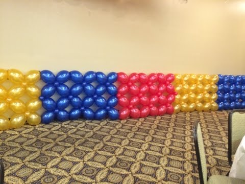 Balloon Wall - Lattice Style ~ DIY Tutorial
