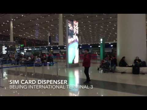 Beijing International airport SIM card dispenser machine