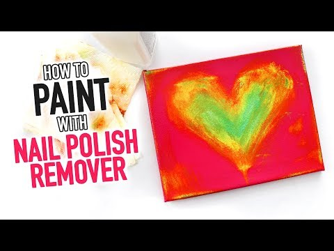 How to Paint With Nail Polish Remover ~ DIY Craft Hack - HGTV Handmade