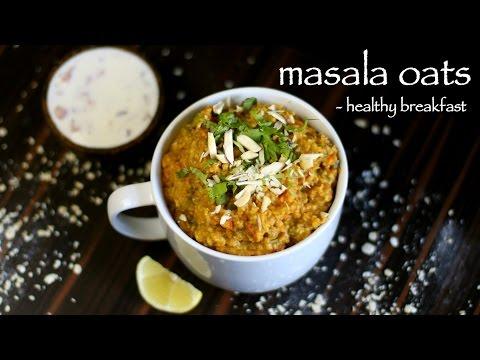 masala oats recipe | easy homemade veg masala oats upma