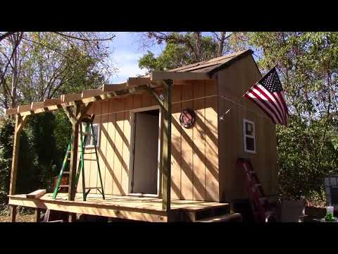 Off Grid Cabin Build pt 20 - Porch Roof Work