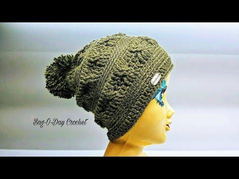 How To Crochet - SLOUCHY HAT | The Joshua Tree Beanie | BAGODAY Crochet Tutorial #461