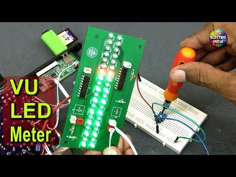 VU LED Meter with LM3914N IC | JLCPCB | PCB Prototype (Hindi electronics) ELECTROINDIA