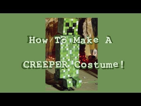 HOW TO MAKE A CREEPER COSTUME - Minecraft Tutorial Halloween