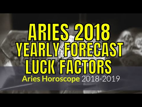 2018 Aries Horoscope.  Mesha Rashi Lucky Colors, Numbers, Days, Rudraksha, Gemstones (Moon sign)