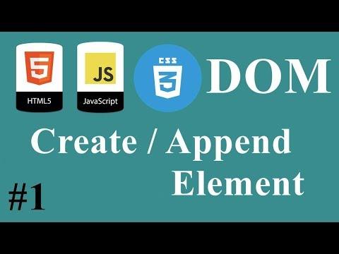 #01 - JavaScript HTML CSS Dom DARIJA - Create / Append Element