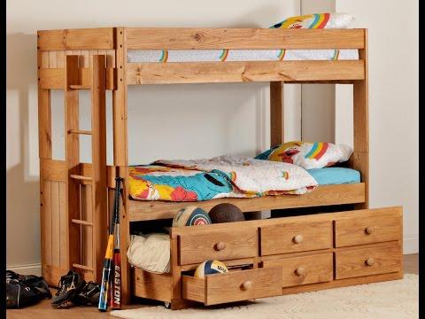 ,Bedroom_ Elegant Cream Bunk Bed Bunk Beds