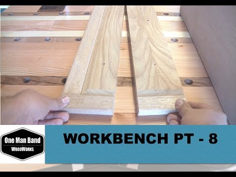Workbench build part 8 making and fitting the drawer fronts