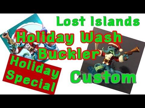 Custom Skylanders Lost Islands Holiday Wash Buckler -Holiday Special-