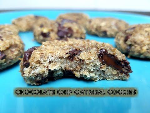 VEGAN CHOCOLATE CHIP OATMEAL COOKIES - CookingwithKarma