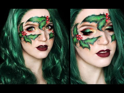 HOLLY MASK Festive Christmas Makeup Tutorial