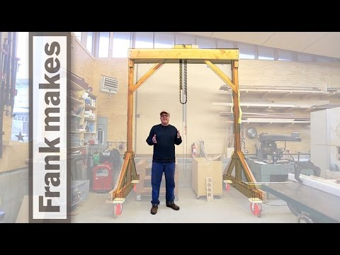 Wooden Gantry Crane