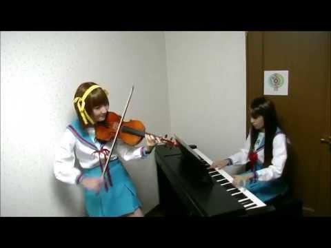 【涼宮ハルヒの憂鬱メドレー】ヴァイオリンとピアノで演奏してみた【The Melancholy of Haruhi Suzumiya Medley】