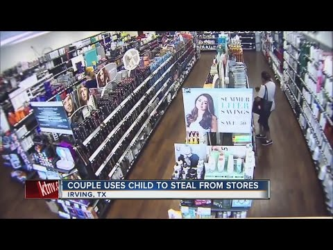 Couple uses child to steal from store
