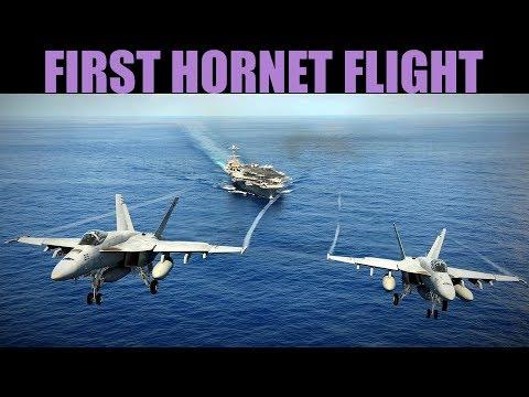 FA-18C Hornet   Early Access   First Flight, Rockets & Carrier Landing   DCS WORLD
