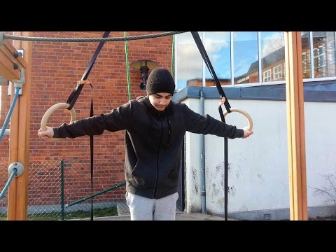 15 Years Old Full Planche, Iron Cross And Maltese Training On Rings