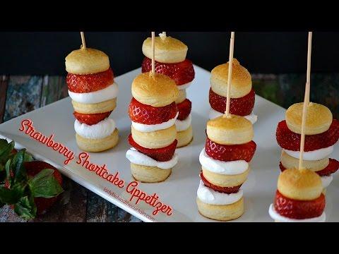 How To Make Strawberry Shortcake Appetizer Kabobs:  Dessert Recipe