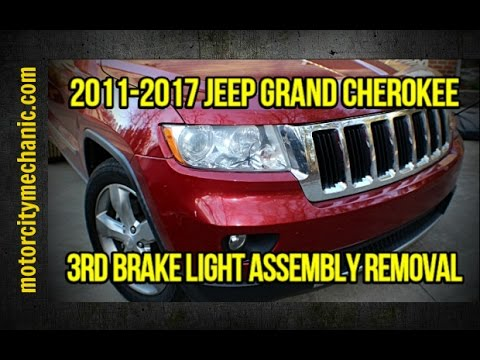 2011-2017 Jeep Grand Cherokee 3rd brake light assembly removal