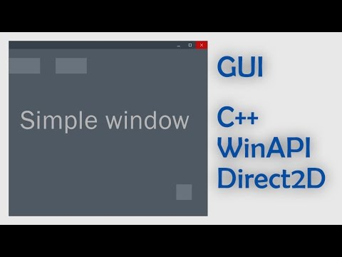 Working on GUI written on C++ with WinAPI and DirectX #1. Simple window