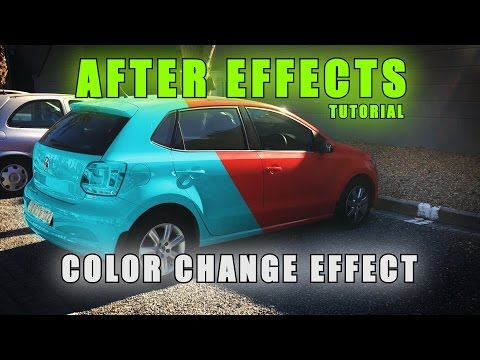 After Effects Tutorial How To Change The Color Of Something In Your Scene