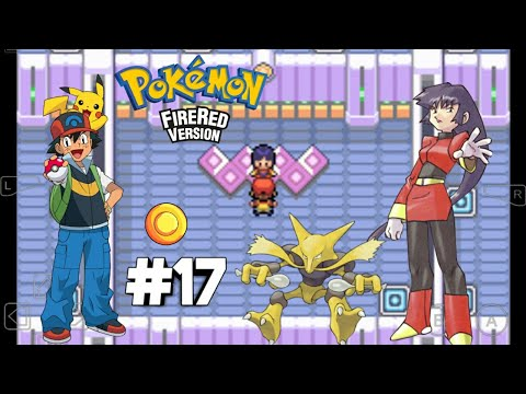 Defeating the gym leader Sabrina to get Marsh Badge in Saffron City....POKÈMON FIRE RED#17
