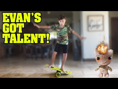 EVAN'S GOT TALENT!!! Balancing on the Morf Board!! Exploding Groot! HUGE Clamour 2018 Toy Haul!