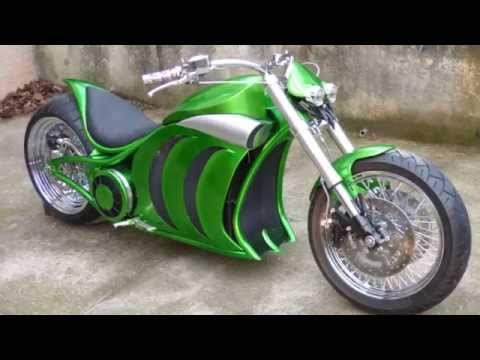 Electric motorcycle Custom dragster homemade