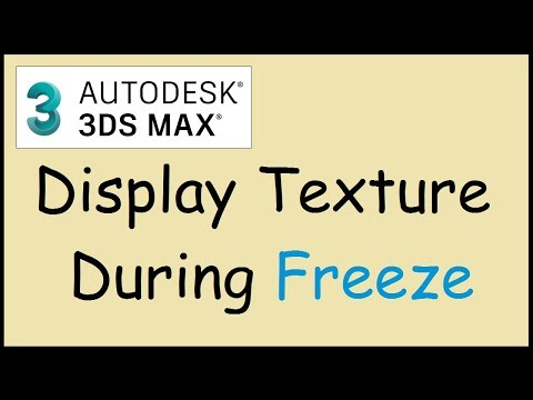 How to show material when freezing objects in 3ds MAX
