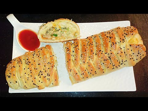Chicken Stuffed Bread | Chicken Bread Recipe in hindi by Farheen khan | Chicken Stuffed Bread Recipe