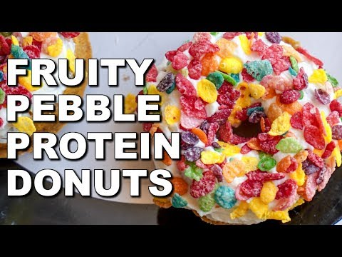 THE BEST PROTEIN DONUT:  Fruity Pebble Protein Donuts (19g PROTEIN PER DONUT)