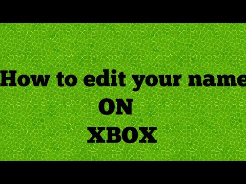 How to edit your real name and other stuff on Xbox One