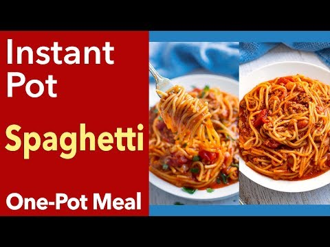 Instant Pot Spaghetti for Beginners